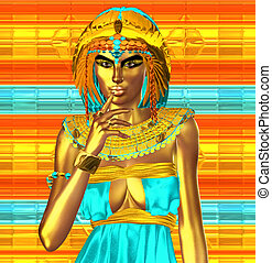 Golden Egyptian Goddess