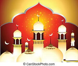 Golden Eid Background vector