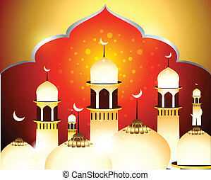 Golden Eid Background vector