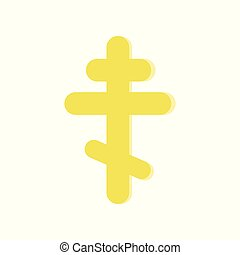Golden eight-pointed cross. Symbol of Orthodox Church....