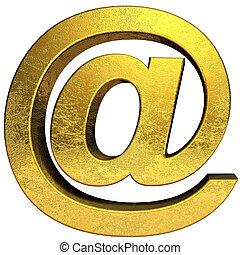 Golden email symbol