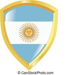 golden emblem of Argentina