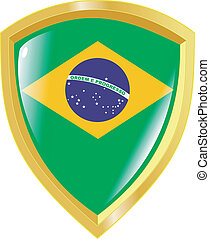 golden emblem of Brazil