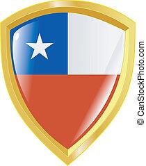 golden emblem of Chile
