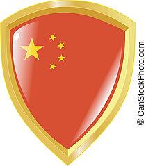 golden emblem of China