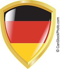 golden emblem of Germany