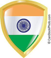 golden emblem of India
