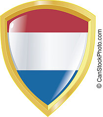 golden emblem of Netherlands