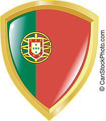 golden emblem of Portugal