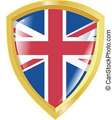 golden emblem of UK