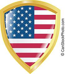 golden emblem of USA