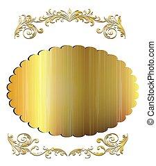 Golden emblem
