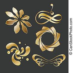 Golden Emblems Set