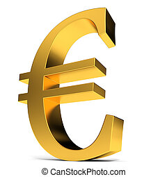 Golden euro sign.
