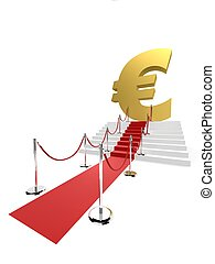 golden euro sign - 3d rendered illustration of an euro sign...
