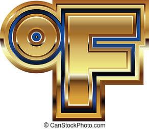 Golden Farenheit Symbol