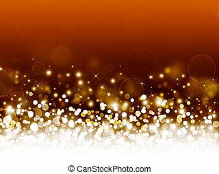 golden festive bokeh background