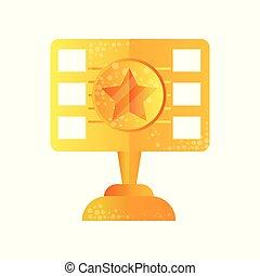 Golden film award vector Illustration on a white background