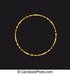 Golden fire ring