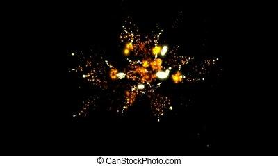 Golden Fireworks and flicker stars