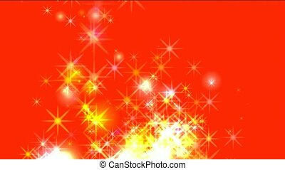 golden fireworks,dazzling stars,falling particle,festival...