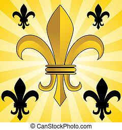 Golden Fleur-De-Lis - An image of a glowing gold fleur de...