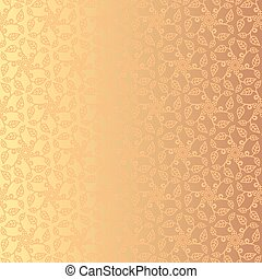 Golden floral background. Eps 8.