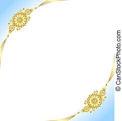 Golden floral decoration background