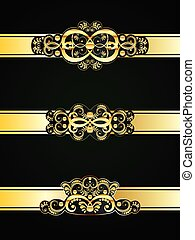 Golden Floral Ornament - Collection of vintage decorative ...