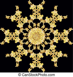 Golden flower pattern