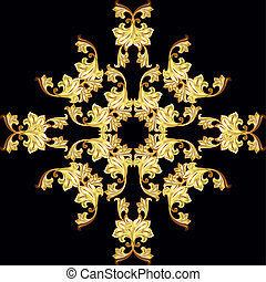 Golden flower pattern