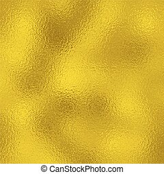 Shiny yellow leaf gold foil texture vector background.