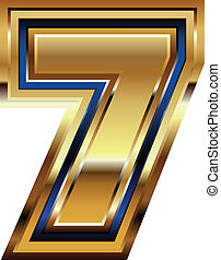 Golden Font Number 7
