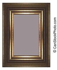 Golden frame - a golden frame