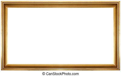 Golden Frame Cutout