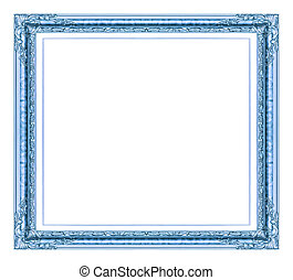 golden  frame isolated on white background, with clipping path