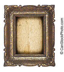 Golden frame isolated on white