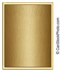 frame - golden frame, isolated
