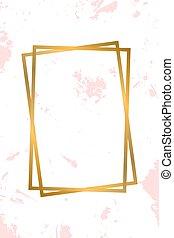 Golden frame on white background. vintage frame with grugne background.