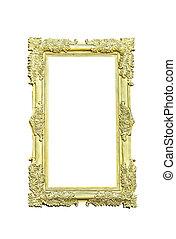 Golden frame on white
