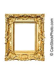 golden frame - ancient carved golden frame