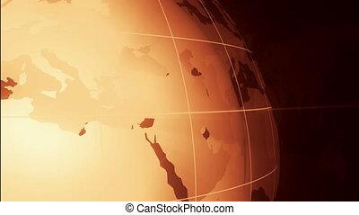 Golden Frame Turning Globe