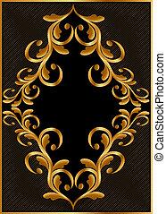 gold(en) frame with pattern