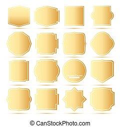 Golden Frames Set.