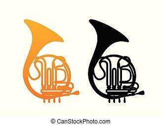 Golden French Horn