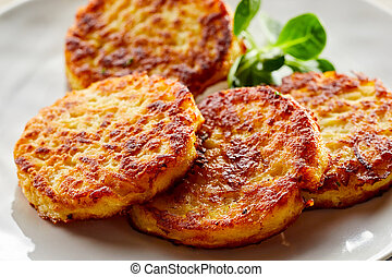Golden fried potato fritters a specialist German and ...