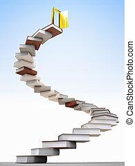 golden future - golden door over knowledge stair