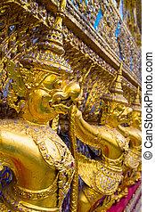Golden Garudas at Grand Palace, Bangkok