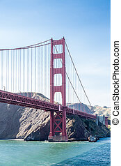 Golden Gate and Marin County - View of the Golden Gate ...