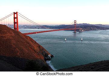 Golden Gate At Sunse
